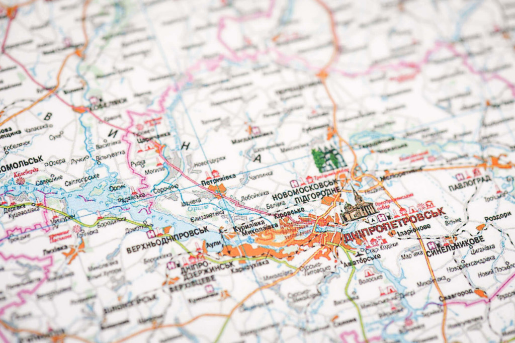 Скретч карта Украины Native edition