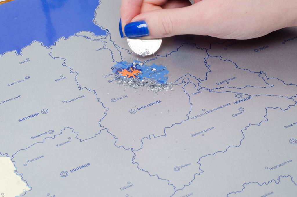 Скретч карта Украины Супер Юкрейн