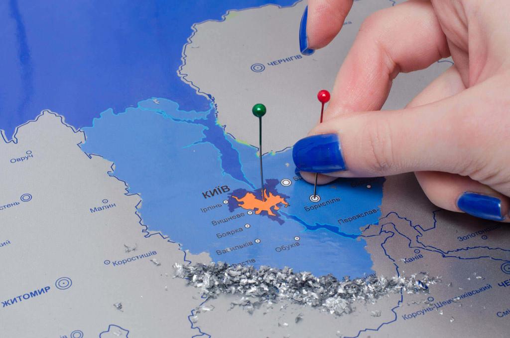 Скретч карта Украины в подарок