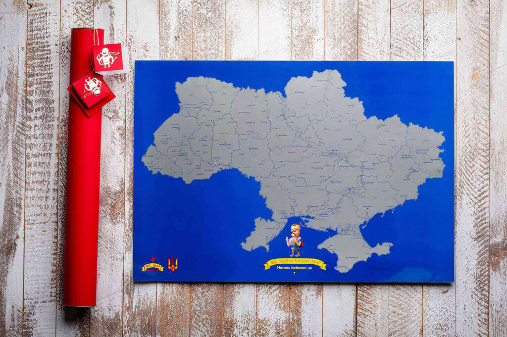 Супер карта Украины стирающаяся