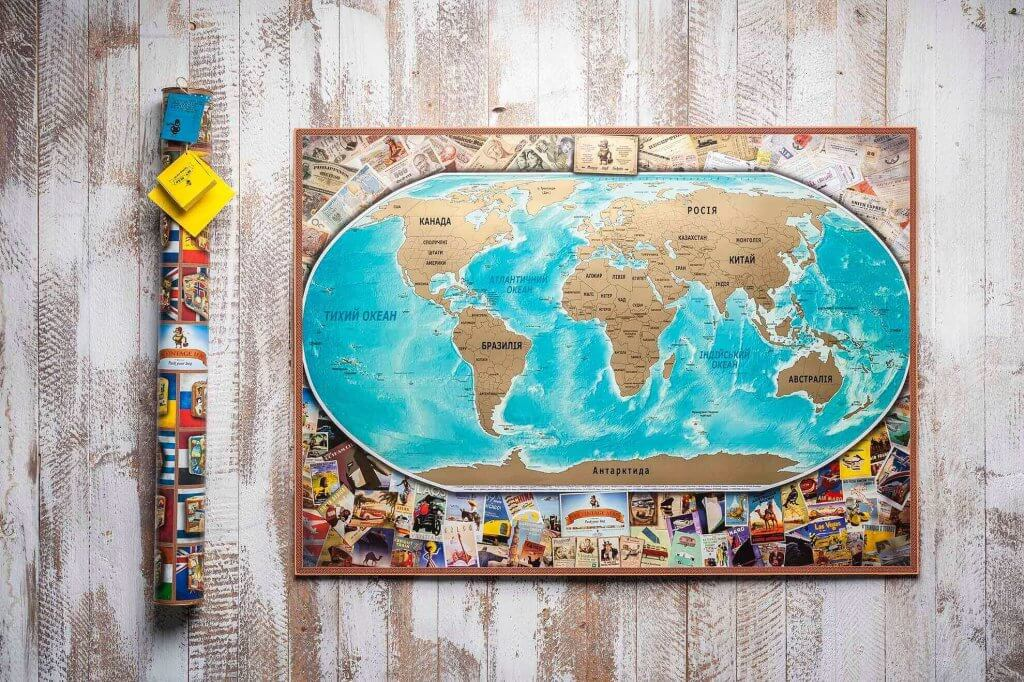 Карта мира Vintage edition UKR