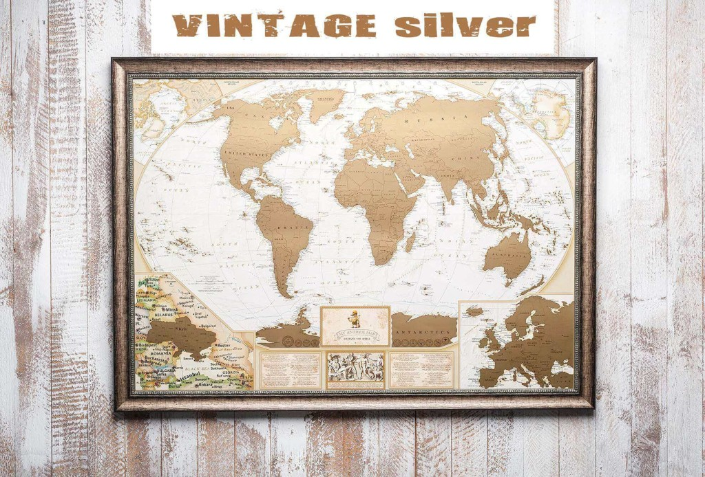 My Map Antique edition ENG в раме