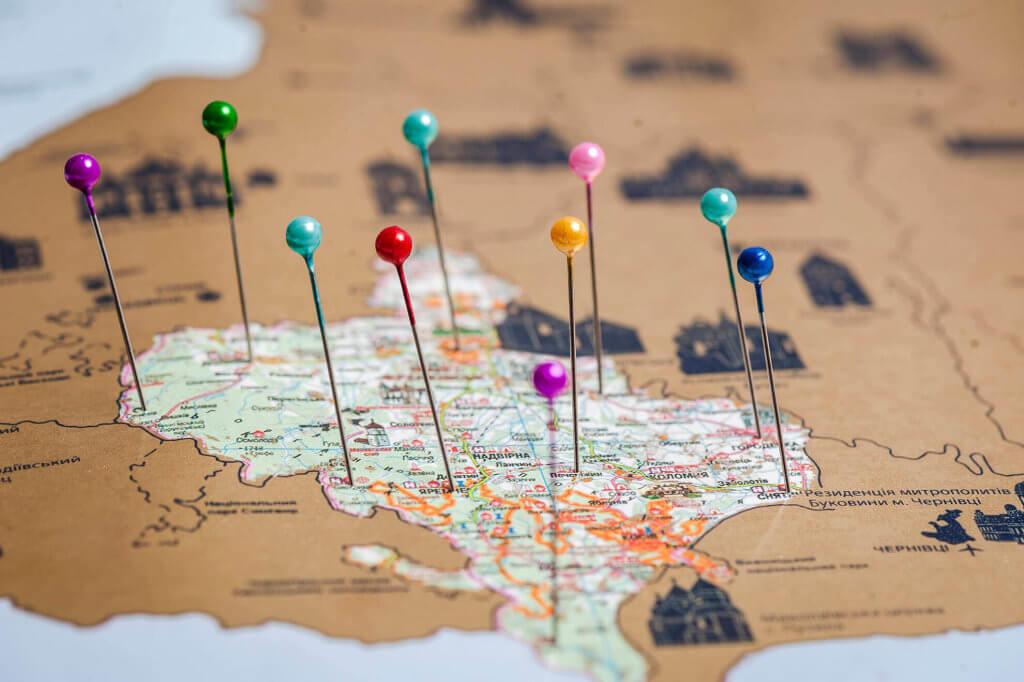 My Map стирающаяся карта Украины