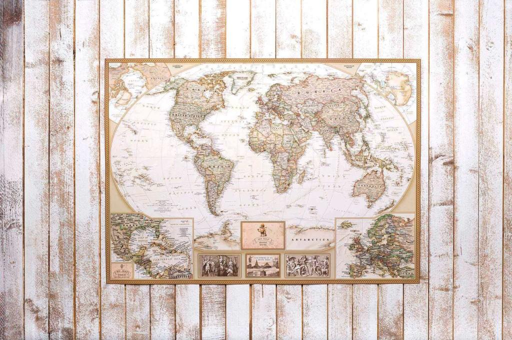 Стирающаяся карта мира Antique edition