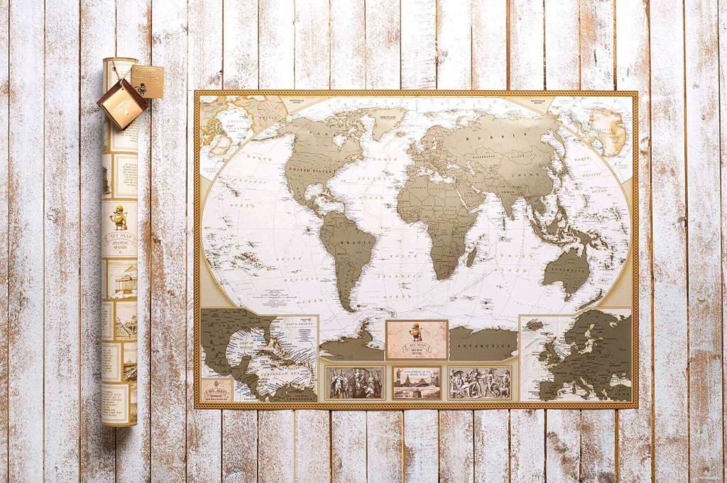 Скретч карта мира Antique