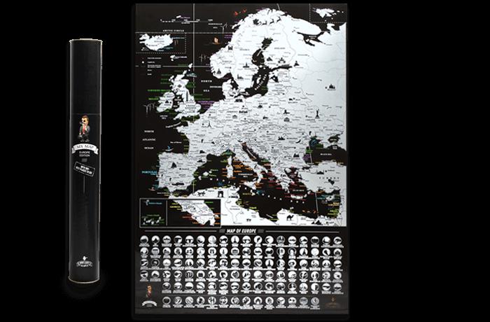 Скретч карта Европы My Map Europe edition ENG в тубусе