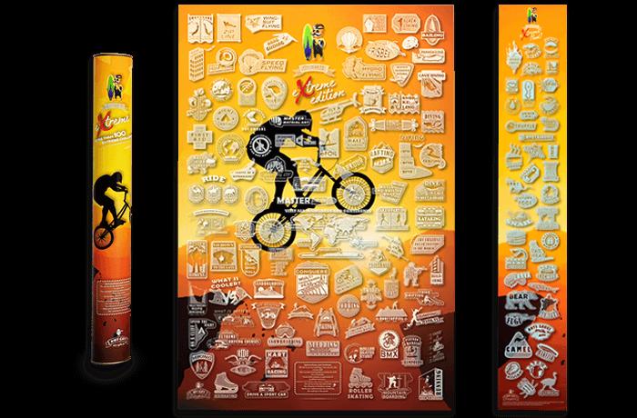 Скретч постер My Poster Extreme edition ENG в тубусі + безкоштовний постер екстремальної їжі