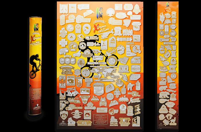 Скретч постер My Poster Extreme edition ENG в тубусе + бесплатный постер экстремальной еды