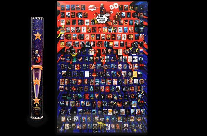 Скретч постер My Poster 350 Fantastic Movies edition ENG в тубусі + безкоштовний постер прем'єр 2020 року