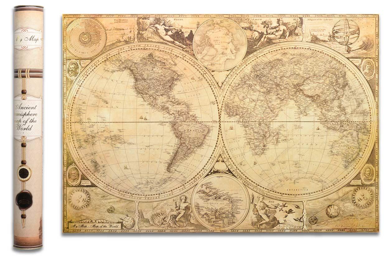 Cкретч карта світу My Map Special edition ENG в тубусі