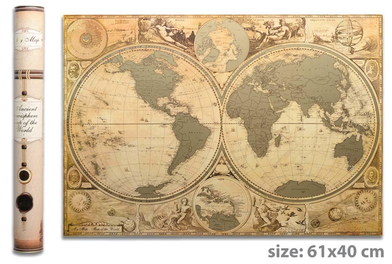 Cкретч карта мира My Map Special edition ENG в тубусе